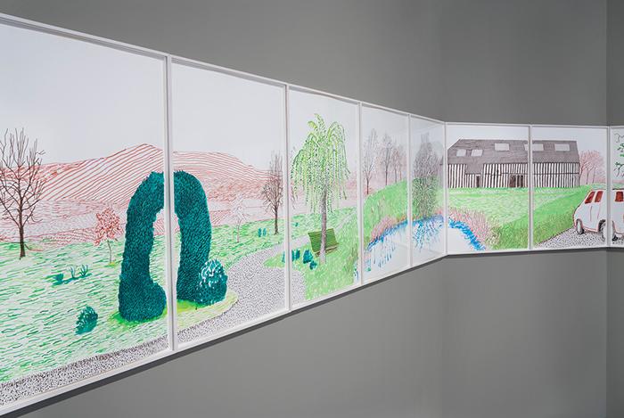 霍克尼最新全景画呈现法国诺曼底乡村的初春美景